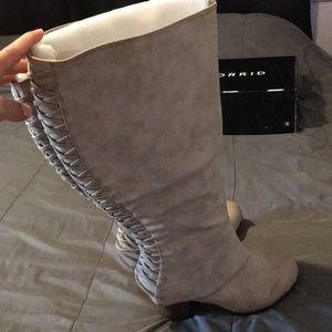 Torrid beige wide calf boots size 11.5